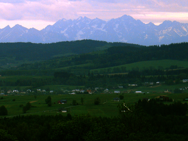 View of Tatra Mountains from Homa Farm